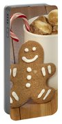 Hot Cocoa And Gingerbread Cookie Portable Battery Charger by Juli Scalzi