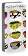 Hot Cuppa Whimsical Colorful Coffee Cup Designs By Romi Portable Battery Charger