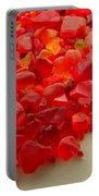 Hot Orange Beach Glass Portable Battery Charger