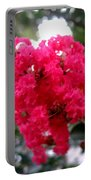 Hot Pink Crepe Myrtle Blossoms Portable Battery Charger