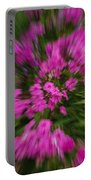 Hot Pink Flower Zoom Portable Battery Charger