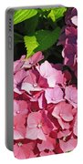 Hot Pink Hydrangea Portable Battery Charger