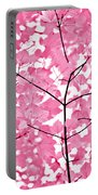 Hot Pink Leaves Melody Portable Battery Charger