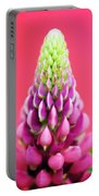 Hot Pink Lupine Portable Battery Charger