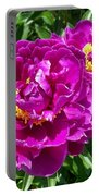 Hot Pink Peonies Portable Battery Charger