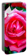 Hot Pink Rose Portable Battery Charger