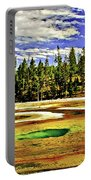 Prismatic Geyser Yellowstone National Park Portable Battery Charger
