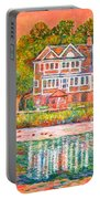House By The Tidal Creek At Pawleys Island Portable Battery Charger