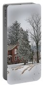 House In Winter Portable Battery Charger
