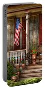 House - Porch - Belvidere Nj - A Classic American Home  Portable Battery Charger