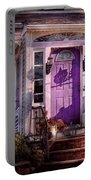 House - Porch - Cranford Nj - Lovely In Lavender  Portable Battery Charger