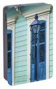 Houses Along A Street, French Quarter Portable Battery Charger