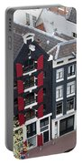 Houses In Amsterdam From Above Portable Battery Charger