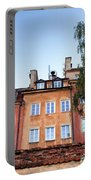 Houses In The Old Town Of Warsaw Portable Battery Charger