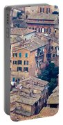 Houses Of Old City Of Siena - Tuscany - Italy - Europe Portable Battery Charger