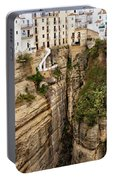 Houses On A Rock In Ronda Portable Battery Charger