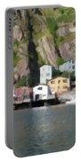Houses With Expressive Brushstrokes Portable Battery Charger