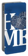 Houston Street Map Home Heart - Houston Texas Road Map In A Hear Portable Battery Charger