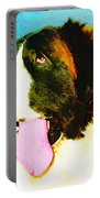 How Bout A Kiss - St Bernard Art By Sharon Cummings Portable Battery Charger