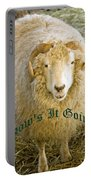 Hows It Going Old English Hunter Green Portable Battery Charger