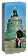 Huge Bell That Cracked In A Pit Inside Kremlin Walls In Moscow-r Portable Battery Charger