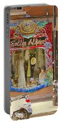 Hugs At Les Folles Allies Vintage Couture Friperie Farewell Goodbye Mont Royal City Scene C Spandau  Portable Battery Charger