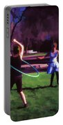 Hula Digital Art By Cathy Anderson Portable Battery Charger