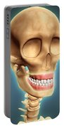 Human Skeleton Showing Teeth And Gums Portable Battery Charger by Stocktrek Images