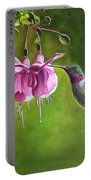 Hummingbird And Fuschia Portable Battery Charger