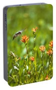 Hummingbird And Paintbrush Flower Portable Battery Charger