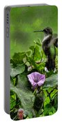 Hummingbird In The Rain Portable Battery Charger