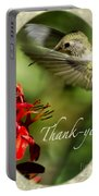 Hummingbird Thanks Portable Battery Charger