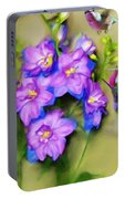 Hummingbirds Butterflies And Flowers Portable Battery Charger