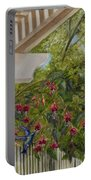 Hummingbirds In Spring Portable Battery Charger