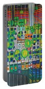 Hundertwasser The Three Skins In 3d By J.j.b. Portable Battery Charger