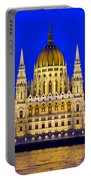 Hungarian Parliament At Twilight Portable Battery Charger