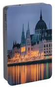 Hungarian Parliament Dawn Portable Battery Charger