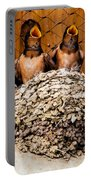 Hungry Baby Swallows - Antelope Island - Utah Portable Battery Charger
