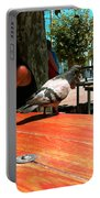 Hungry Pigeon At Mcdonalds Portable Battery Charger