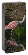 Hungry Pink Spoonbill Portable Battery Charger