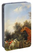Hunting Scene Portable Battery Charger