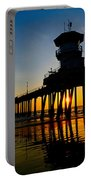 Huntington Beach Pier At Sunset Portable Battery Charger