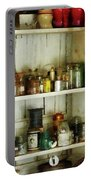 Hurricane Lamp In Pantry Portable Battery Charger by Susan Savad