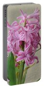 Hyacinth Pink Portable Battery Charger