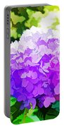 Hydrangea In Watercolor Portable Battery Charger
