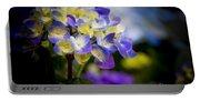 Purple Blue Hydrangea, Corona Del Mar California Portable Battery Charger