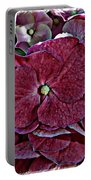 Hydrangeas In Rich Rose Color Portable Battery Charger