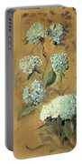 Hydrangeas Portable Battery Charger by Paul Cesar Helleu