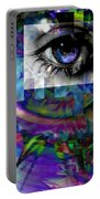 I Abstract Portable Battery Charger by Elizabeth McTaggart