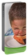 I Don't Want To - Pie Eating Contest Art Prints Portable Battery Charger